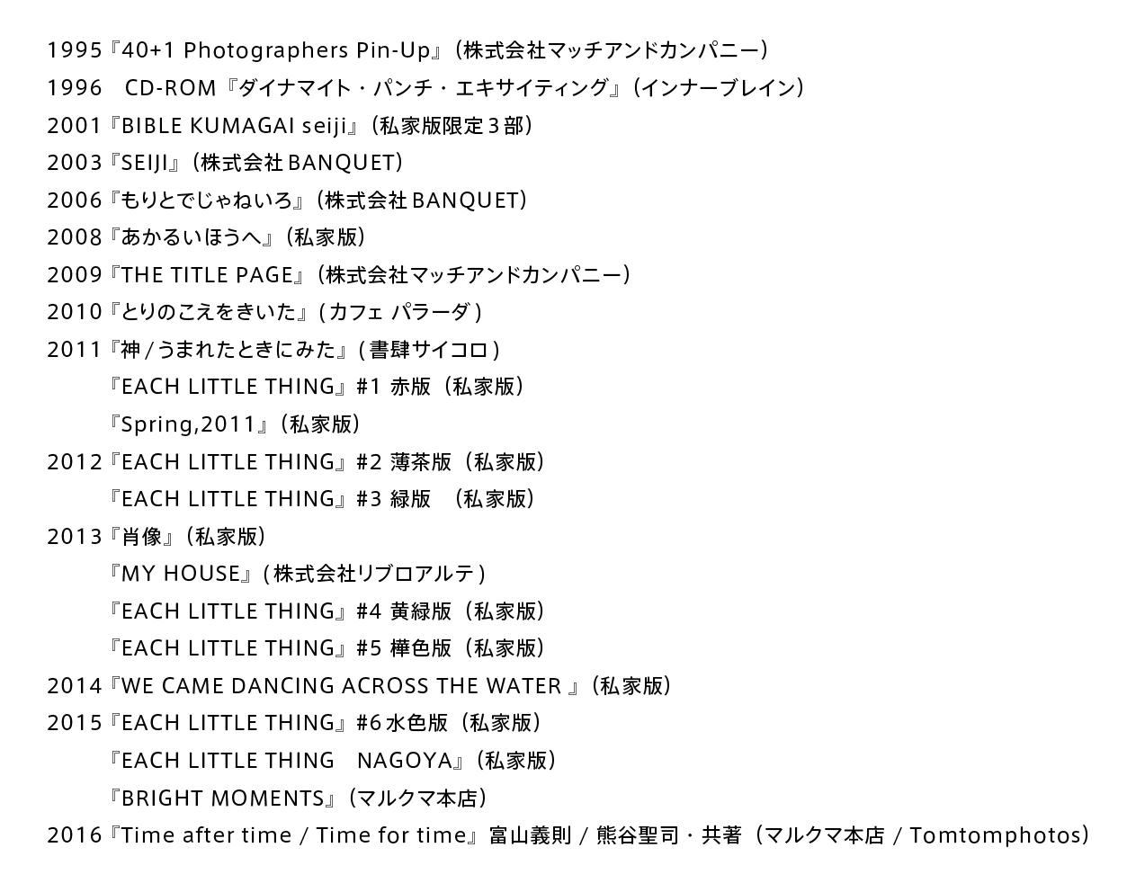 熊谷聖司 写真展「青について」