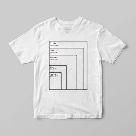 印画紙サイズシャツ