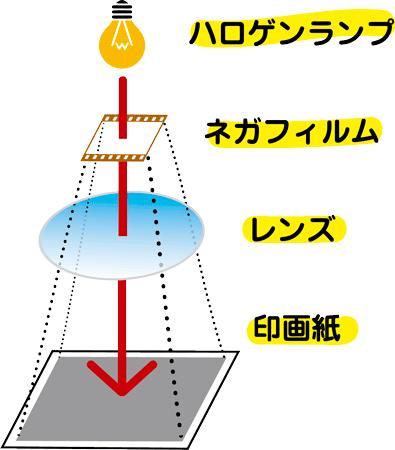 アナログ銀塩プリント アナログ露光の仕組み